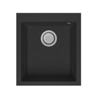 Electro mbh | Evier 41cm graniteck 1 bac noir QUADRA.40B FOCUS