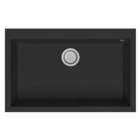 Electro mbh | Evier 80cm graniteck 1 bac QUADRA.80B FOCUS