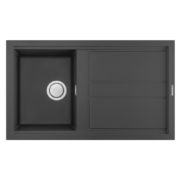 Electro mbh | Evier 86cm graniteck 1 bac noir SMART.86B FOCUS