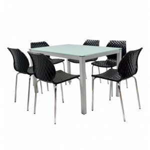 Electro mbh | Table serena top en verre 150cm