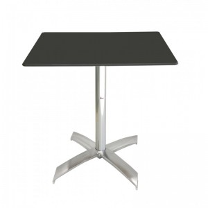 Electro mbh | Table bistrot carré 70*70 cm TOP COMPACT socle en X