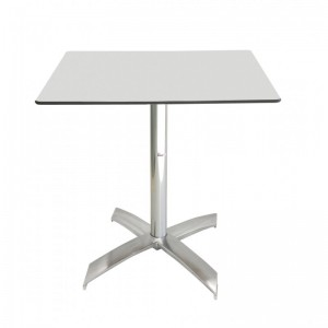 Electro mbh | Table bistrot carré 60*60 cm TOP COMPACT socle en X