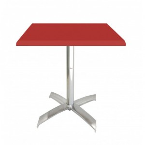 Electro mbh | Table bistrot carré 70*70 cm socle en X