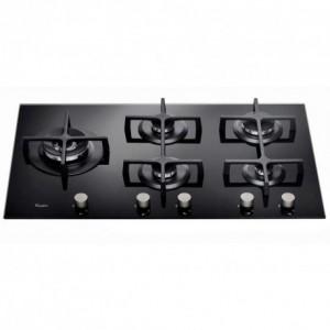 Electro mbh | Plaque de cuisson 5 feux noir verre trempé WHIRLPOOL