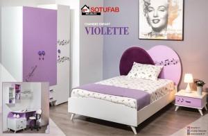 Electro mbh | Chambre à coucher enfant violette sotufab