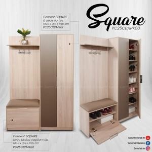 Electro mbh | meuble d'entrée square sotufab