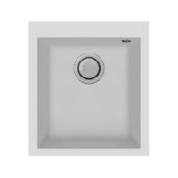 Electro mbh | Evier 41cm graniteck 1 bac blanc QUADRA.40W FOCUS