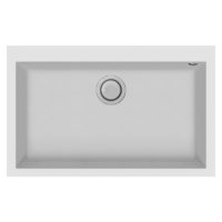 Electro mbh | Evier 80cm graniteck 1 bac blanc QUADRA.80W FOCUS