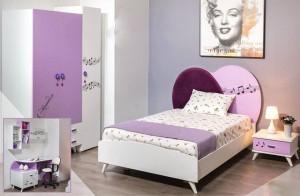Electro mbh | Chambre à coucher enfant violette