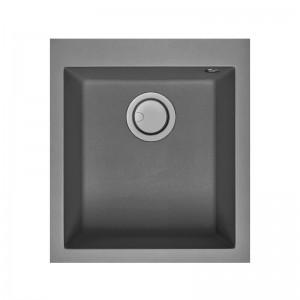 Electro mbh | Evier 41cm graniteck 1 bac gris QUADRA.40G FOCUS