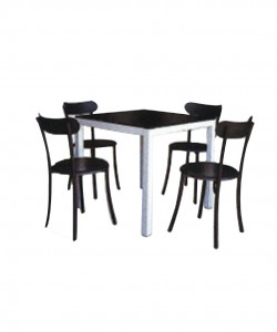 Electro mbh | Table SERENA top en verre 80cm