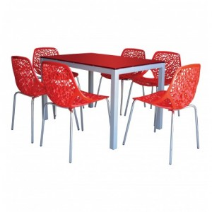 Electro mbh | table SERENA top en verre 120cm