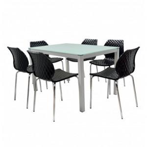 Electro mbh | table serena top en verre 150cm