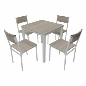 Electro mbh | Table SERENA top en PVC 80x80cm