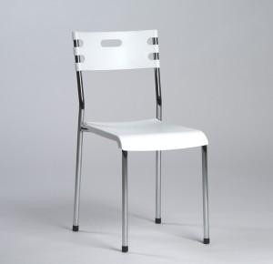 Electro mbh | Chaise MEGA avec socle  en acier chromé