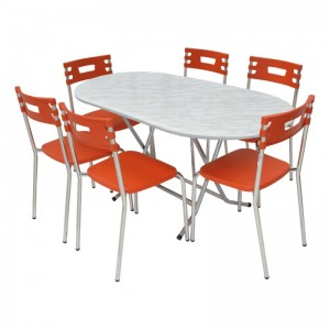 Electro mbh | Table pliante ovale 120x65 cm