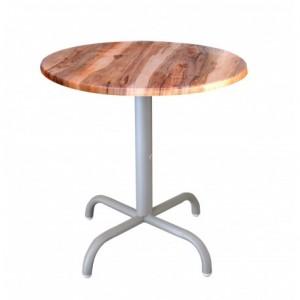 Electro mbh | Table bistrot ronde Ø70cm socle peinture