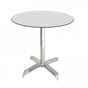 Electro mbh | Table bistrot ronde Ø70cm TOP COMPACT socle en X