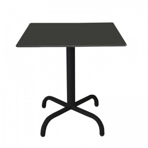 Electro mbh | Table bistrot carré 60*60 cm TOP COMPACT socle peinture
