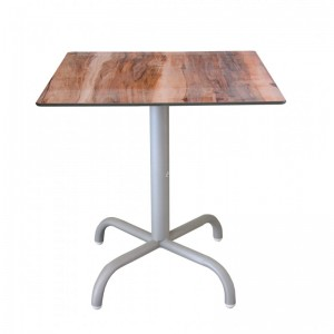 Electro mbh | Table bistrot carré 70*70 cm TOP COMPACT socle peinture