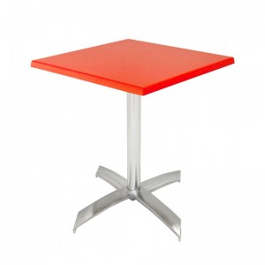 Electro mbh | Table bistrot carré 60*60 cm socle en X