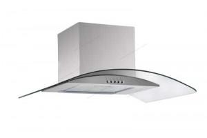 Electro mbh | hotte ovale inox et vitre Franco