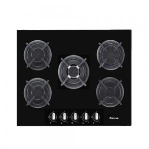 Electro mbh | Plaque de cuisson 5 feux vitro noir 90 cm