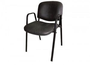 Electro mbh | chaise iso skai avec accoudoirs métallique